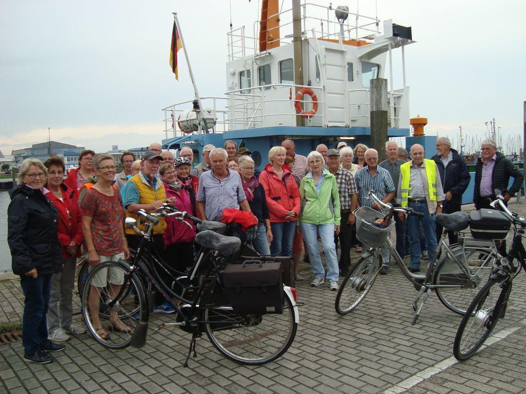 Teilnehmer der Tour am 15.08.2017 in Bensersiel | Foto: Sabine Faby