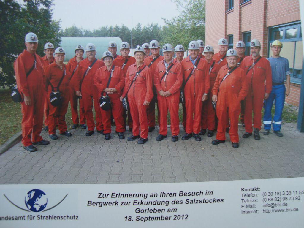 Besuch des Bergwerks zur Erkundung des Salzstocks in Gorleben am 18.09.2012 | Foto: August Ovelgönne