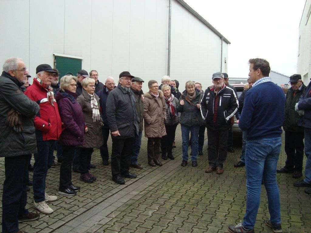 Begrüßung der Gruppe durch Andreas Wohlers (Foto Sabine Faby)