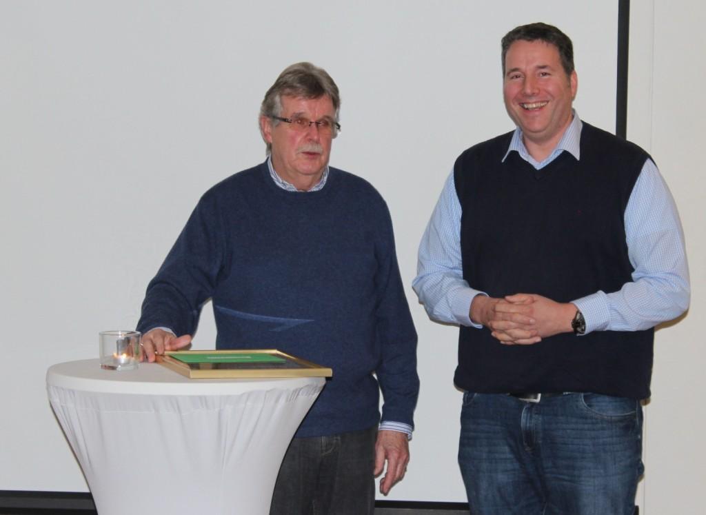 Manfred Plog und Gregor Brokamp (neuer 1. Vorsitzender)