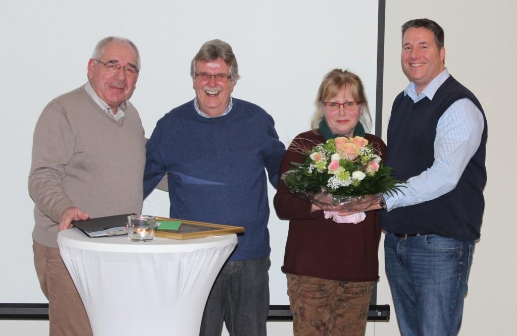 v.l.: Jochen Freese, Manfred Plog, Kerstin Plog und Gregor Brokamp